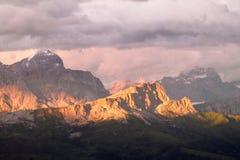 alpi della dolomia Fotografie Stock Libere da Diritti