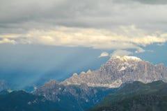 Alpi della dolomia al tramonto Fotografie Stock Libere da Diritti