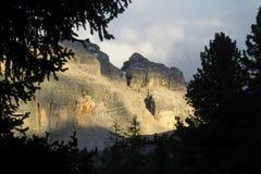 Alpi della dolomia al tramonto Fotografia Stock Libera da Diritti