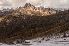 Alpi della dolomia in autunno Immagini Stock Libere da Diritti