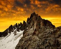 Alpi della dolomia, Italia Fotografie Stock Libere da Diritti