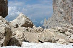 Alpi della dolomia, Langkofel Fotografia Stock Libera da Diritti