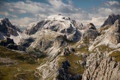 Alpi della dolomia, Sexten, Italia. Fotografia Stock
