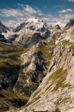 Alpi della dolomia, Sexten, Italia. Immagine Stock