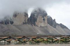 Alpi della dolomia, Tre Cime di Lavaredo Fotografia Stock