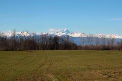 Alpi della montagna Fotografie Stock Libere da Diritti