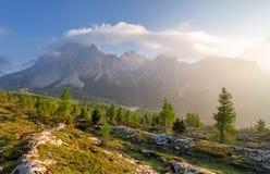 Alpi della natura di paesaggio in Italia Fotografia Stock Libera da Diritti
