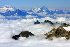 Alpi della pennina Fotografia Stock