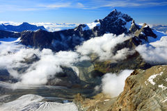 Alpi della pennina Immagine Stock