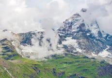 Alpi della pennina del picco del Cervino Fotografie Stock