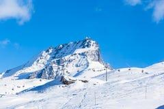 Alpi della pennina sul confine dello Italiano-svizzero Fotografie Stock