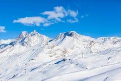 Alpi della pennina sul confine dello Italiano-svizzero Immagine Stock