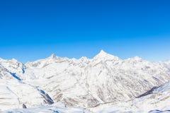 Alpi della pennina sul confine dello Italiano-svizzero Immagini Stock Libere da Diritti