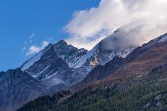 Alpi della pennina in Svizzera Fotografia Stock Libera da Diritti