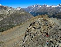 Alpi della pennina vicino a Zermatt Immagini Stock Libere da Diritti