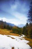 Alpi della primavera Immagine Stock