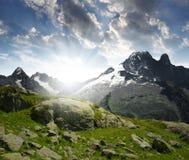 Alpi della Savoia Immagine Stock