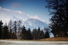 Alpi della sorgente Immagini Stock Libere da Diritti