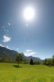 Alpi della sorgente Fotografia Stock