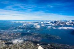 Alpi della Svizzera dal supporto Pilatus Fotografia Stock Libera da Diritti