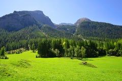 Alpi della Svizzera - parcheggi Ela, il cantone Graubunden Immagine Stock
