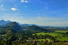 Alpi della valle Fotografia Stock