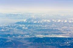 Alpi della vista di Europa Fotografie Stock Libere da Diritti