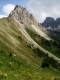 Alpi delle dolomia, Italia Immagine Stock