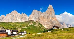 Alpi delle dolomia, Italia Fotografie Stock