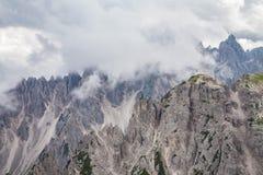 Alpi delle dolomia in Italia Bella vista delle montagne Fotografia Stock