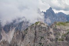 Alpi delle dolomia in Italia Bella vista delle montagne Fotografie Stock