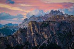 Alpi delle dolomia L'Italia Fotografia Stock Libera da Diritti