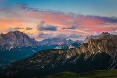 Alpi delle dolomia L'Italia Fotografie Stock Libere da Diritti