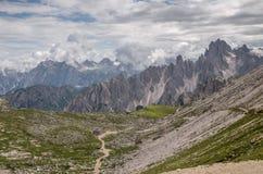 Alpi delle dolomia, montagna, estate, Italia Immagine Stock