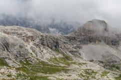 Alpi delle dolomia, montagna, estate, Italia Fotografia Stock Libera da Diritti
