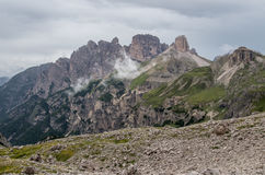 Alpi delle dolomia, montagna, estate, Italia Fotografia Stock