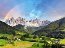 Alpi delle dolomia, montagna - Italia Fotografie Stock