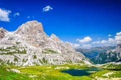 Alpi delle dolomia, Tirolo del sud, Italia Fotografie Stock