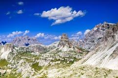 Alpi delle dolomia, Tirolo del sud, Italia Fotografia Stock Libera da Diritti