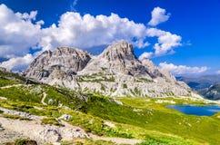 Alpi delle dolomia, Tirolo del sud, Italia Immagine Stock