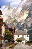 Alpi delle dolomia, Tirolo, Italia Fotografia Stock Libera da Diritti
