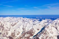 Alpi delle montagne all'Austria Immagine Stock