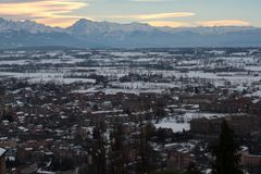 Alpi delle montagne del paesaggio Fotografie Stock
