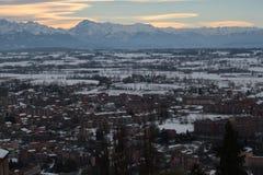 Alpi delle montagne del paesaggio Fotografia Stock Libera da Diritti