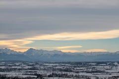 Alpi delle montagne del paesaggio Immagine Stock