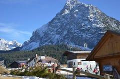 alpi delle montagne di inverno Fotografia Stock Libera da Diritti