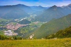 Alpi delle montagne, Slovenia Immagine Stock