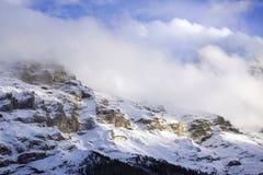 Alpi dello Snowy Fotografia Stock
