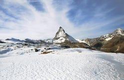 Alpi dello Snowy in Svizzera Immagini Stock Libere da Diritti