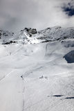 Alpi dello svizzero del pendio della neve Immagine Stock